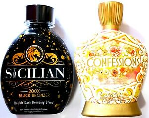 The Sicilian 200x Bronzer & Designer Skin Confessions 20x DHA Tanning Bed Lotion