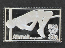 1980 USA High Jump Silver Art Bar U.S. Olympic Postage Stamps P0447