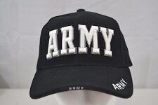 Army Black/White Baseball Cap Adjustable