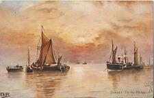 Postcard Tuck's Uk England #9384 Estuary Thames & Medway Sunset on Thames1908