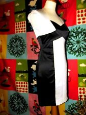 JANE NORMAN ROBE DRESS TRENDY GRAPHIQUE CRAYON  BIMATIERE T UK 10 OU 36