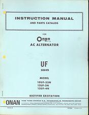 943-8 Onan UF Instruction Manual and Parts Catalog New