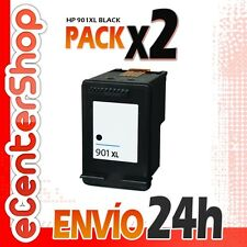 2 Cartuchos Tinta Negra / Negro HP 901XL Reman HP Officejet 4500 Wireless 24H