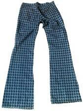 Fornarina hippie hahnentritt patrón golpe pantalones jeans 27/34 w27 l34 rara vez Rare