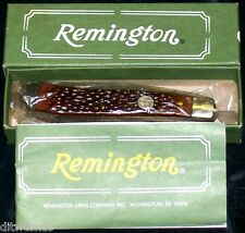 Remington UMC R10 Knife Ranch Hand Trapper NOS Derlin Handles W/Packaging,Papers