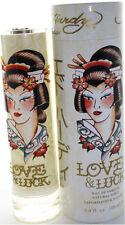 LOVE & LUCK BY ED HARDY 3.4 OZ EDP SPRAY FOR WOMEN NIB