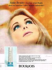 PUBLICITE  1968  BOURJOIS  cosmétiques SATIN BEAUTY