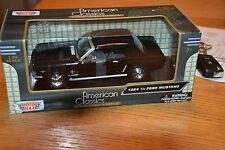 1964 1/2 Ford Mustang Cabriolet schwarz 1:24 Motormax