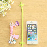 3Pcs Animals Long Line Wire Cable Holder Earphone Winder Cable Cord Organizer l