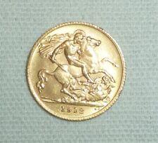 More details for george v - half gold sovereign 1912, 22 carat gold 3.98g
