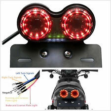12V Motorbike Smoke LED Twin Dual Tail Light Brake Tail Rear Light Turn Signal
