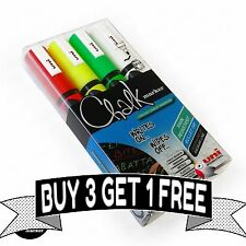uni-ball Chalk Marker Black Board Pen Pwe-5m Handy Wallet of 4 Assorted Colours