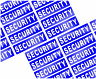30 X SMALL REFLECTIVE SECURITY BADGE STYLE STICKER DECALS        (s207)