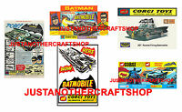 Corgi Toys Batman Batmobile 267 Set of 5 Vintage Posters Leaflets Adverts Signs