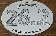 2017 Official Boston Marathon 26.2 Car Bumper Window Sticker Decal John Hancock