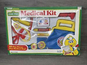Vintage Sesame Street Big Bird Toy Medical First Aid Kit Doctors Bag Kit Tyco