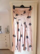 Size 14 Pink strapless silk dress by spotlight at Warehouse