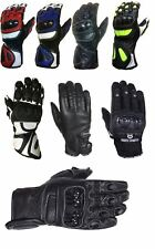 MBSmoto Motorbike Motorcycle Waterproof Leather Summer Winter and Knuckle Gloves