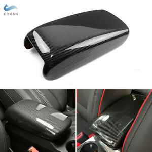 For Audi A3 8V 2013-2020 Carbon Texture Center Stowing Tidying Armrest Box Cover