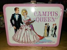 Vintage Campus Queen Magnetic Game Kit Collectible Metal Lunch Box