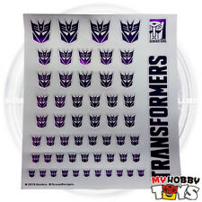 Transformers Accessories - Metallic Sticker / Decals for Decepticon (Logo Symbol