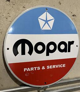 Mopar Service Plymouth Dodge Chrysler Service Parts Porcelain Oil Gas Sign