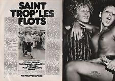 Coupure de presse Clipping 1978 Saint Tropez les Flots Brigitte Bardot (4 pages)