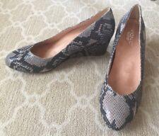 Vionic Women's Antonia Tan/Gray Natural Snakeskin Wedge Pumps Shoe-Size 11-NEW