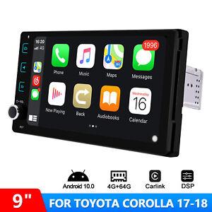 For Toyota Corolla 2017 2018 JOYING 9 Inch Plug and Play Android 10 Car Radio