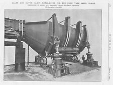 1905 Antique Engineering Print-Allen & Davy's 750 Ton Metal Mixer for Ebbw Vale