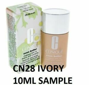 CLINIQUE EVEN BETTER Foundation 10ML SAMPLE - CN28 IVORY, FRESH please see all p