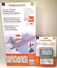 Fiskars Punch Cartridge System w/2 Punches - Flower Garden & Antique Lace - New!