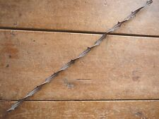 ALLIS LARGE DOUBLE SIDED RUSTY TWISTED RIBBON WIRE - ANTIQUE BARBED WIRE
