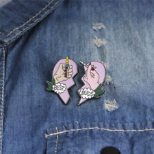 Friends Gift Badge Heart Pin Jewelry_Wk 2Pcs/Set Best Buds Enamel Brooch Pins