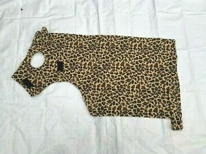 Fleece Horse Hood Neck Cover by Shwmae Products Leopard Print Medium Size Cob