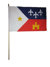 "12x18 12""x18"" Wholesale Lot of 3 Acadiana Louisiana Stick Flag wood Staff"
