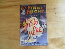 1996 VINTAGE DC FINAL NIGHT # 2 LSH & JLA SIGNED BY KARL KESEL, WITH POA