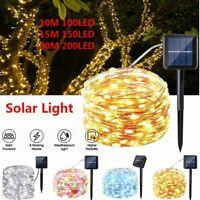 100 200 LED Solar String Fairy Light Garden Christmas Outdoor Party Decoration