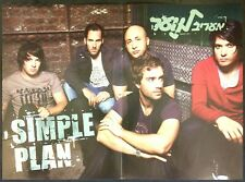 Simple Plan Centerfold Newsprint Poster 30.5x41cm memorabilia Israel