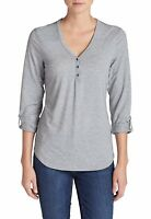 Eddie Bauer Women's Mercer Knit Henley Shirt (2B)