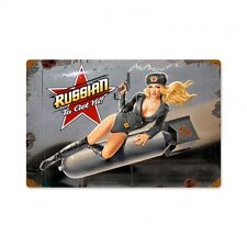 Russian Nose Art Metal Sign - Hand Made in the USA with American Steel