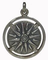 Star of Macedonia Silver Pendant 925 - Alexander the Great -Vergina Sun Star