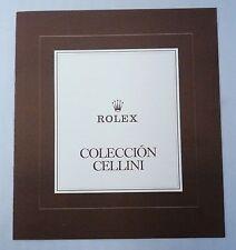 ROLEX CELLINI Vintage Price List 1981 España Spain Retail Precios Prezzi OEM