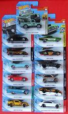 Hot Wheels 2020 13 Stück PORSCHE, MUSTANG, DODGE, HONDA, CORVETTE, CHEVY, u.a.