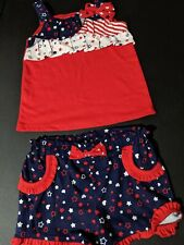 Baby Toddler Girls Clothing Set 4th of July Patriotic size 12-18 months
