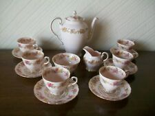 Tuscan Coffee Set Cofee Pot, Sugar & Milk and 5 Duos, Backstamped 7606