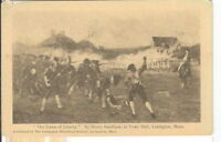 CG-129 MA, Lexington The Dawn of Liberty Harry Sandham Undivided Back Postcard