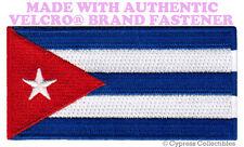 CUBA FLAG PATCH CUBAN EMBLEM EMBROIDERED FIDEL CASTRO w/ VELCRO® Brand Fastener
