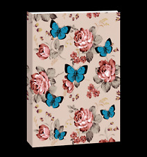 Journal Notebook, Softcover Butterfly design - Elastic Strap