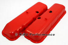 BBC Chevy 396 454 Orange Steel Valve Covers Tall Style w/ Power Brake Recess